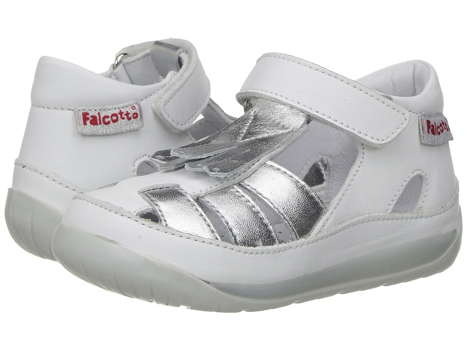 Naturino - Falcotto 1579 SS17 (Toddler) (White/Silver) Girl's Shoes