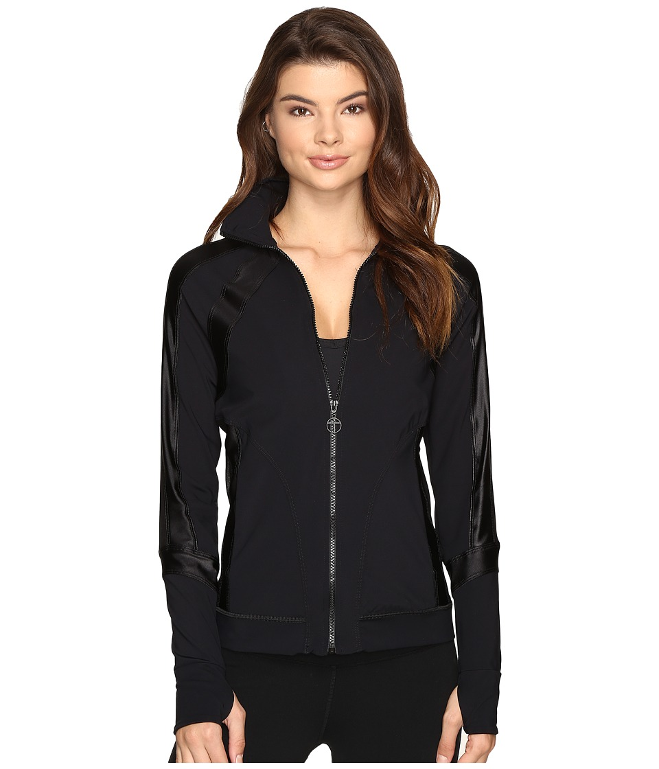 Trina Turk - Shine on Solid Jacket (Black) Women's Coat