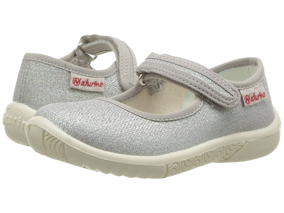 Naturino - 7703 USA SS17 (Toddler/Little Kid) (Silver) Girl's Shoes