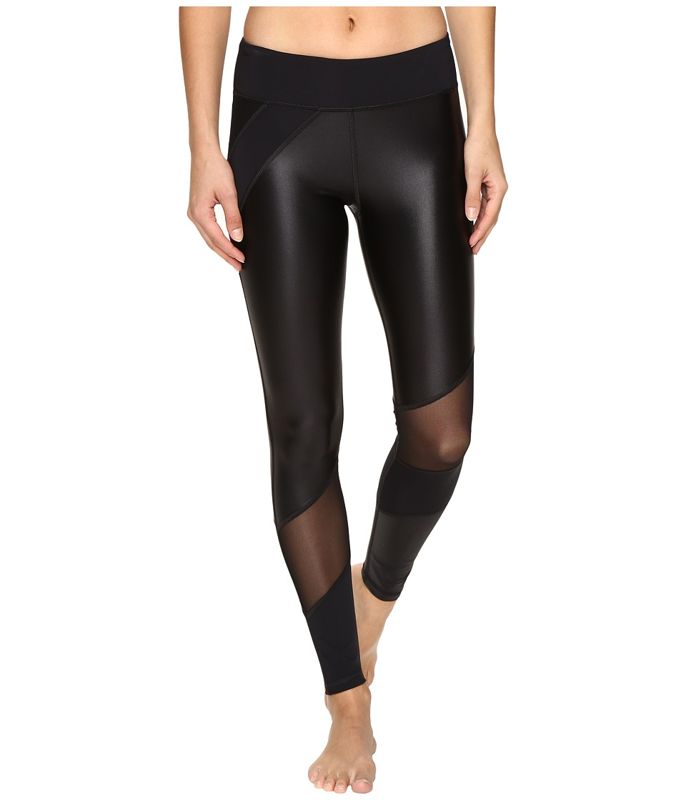 Trina Turk - Shine on Solids Full Length Leggings (Black) Women's Workout