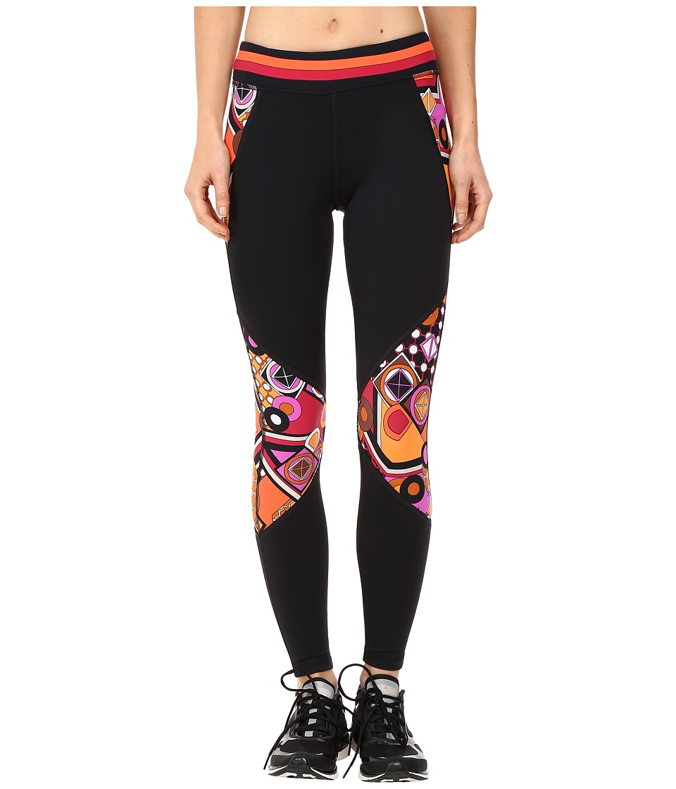 Trina Turk - Geoscape Full Length Leggings (Wine) Women's Workout