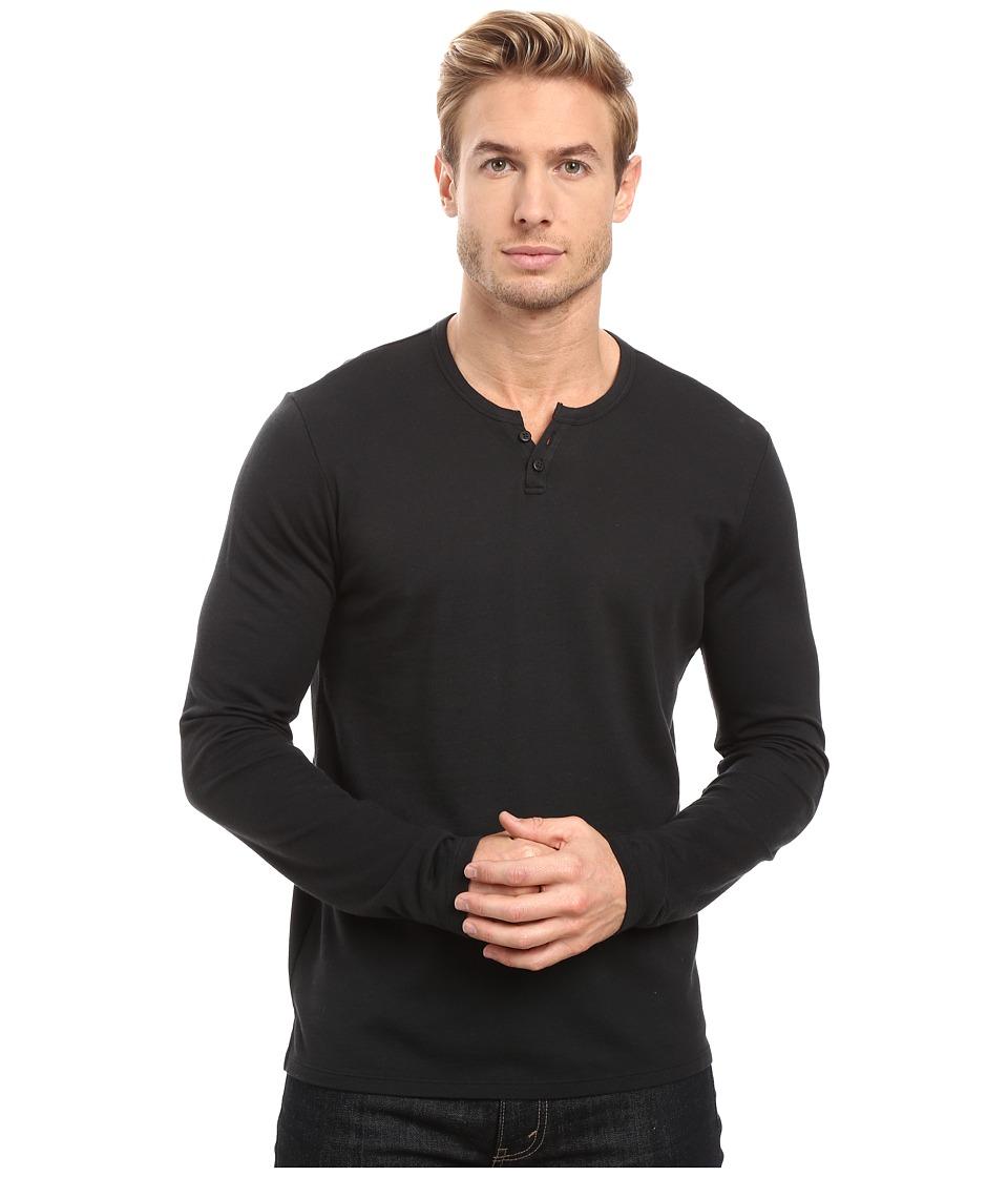 Joe's Jeans - Wintz Long Sleeve Henley (Black Smoke) Men's Long Sleeve Pullover