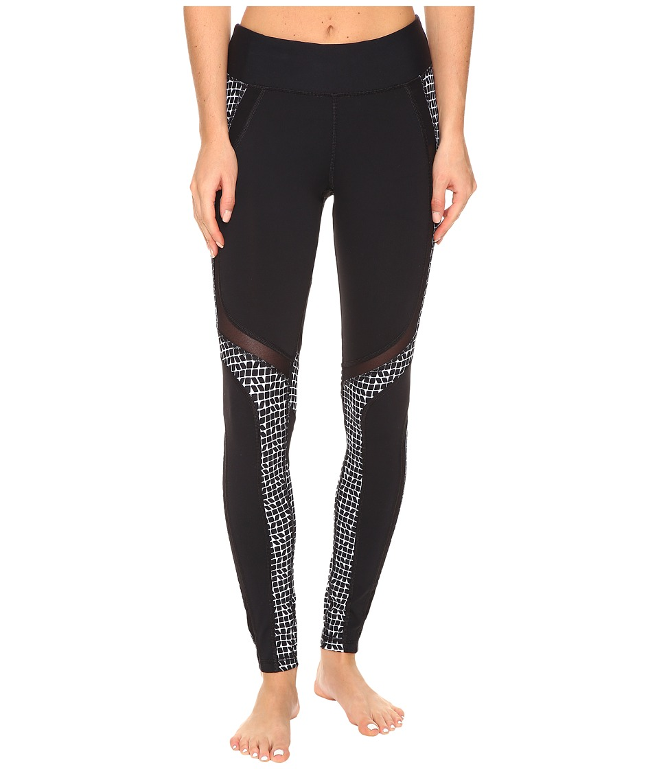 Trina Turk - Check Me Out Full Length Leggings (Black) Women's Workout