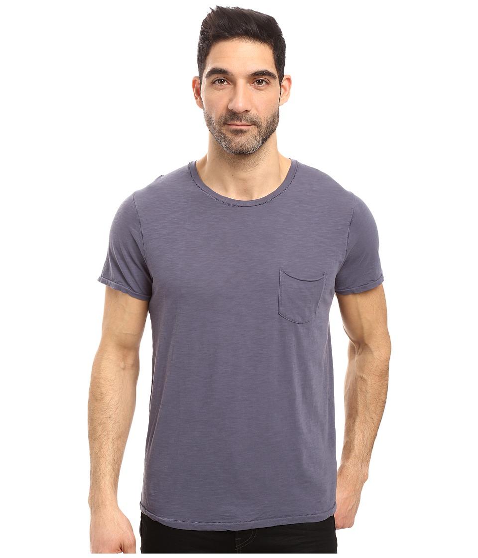 Joe's Jeans - Chase Raw Edge Short Sleeve Crew (Still Water) Men's Short Sleeve Pullover