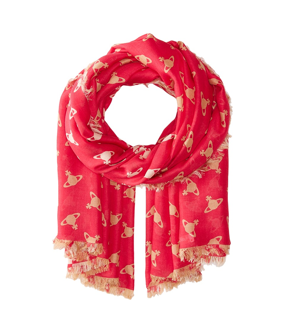 Vivienne Westwood - Absence of Orbs (Red) Scarves