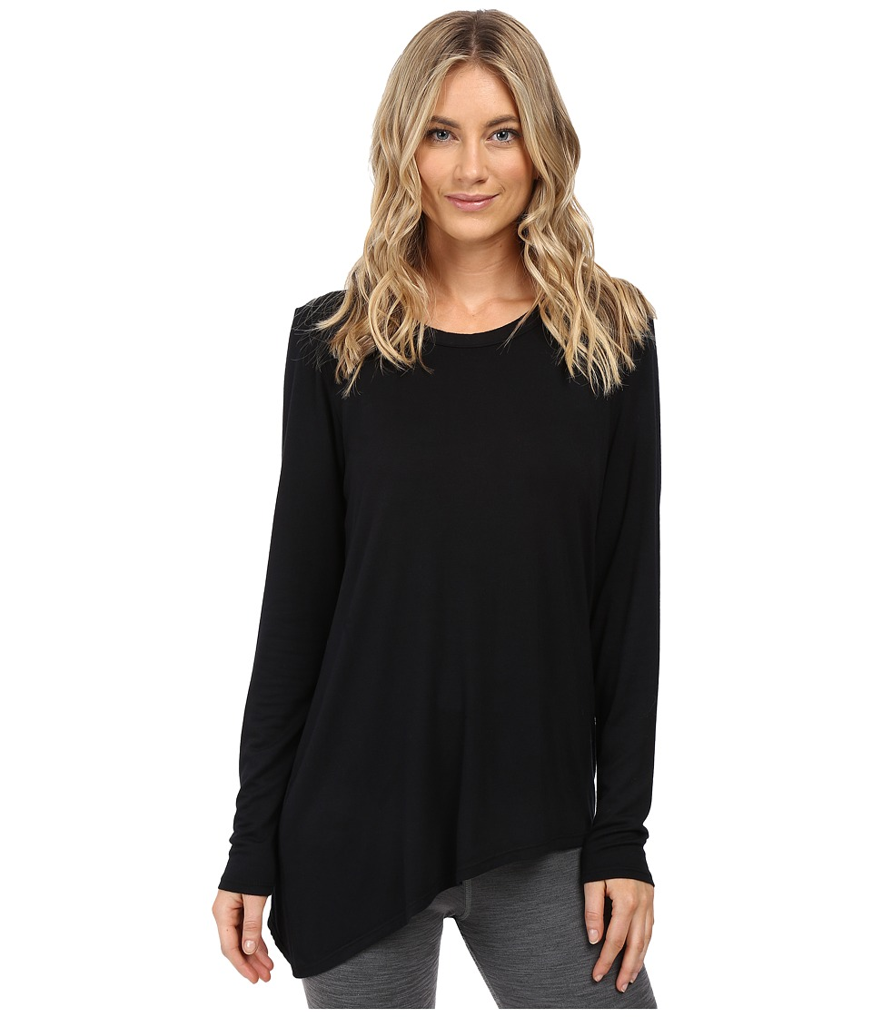 Trina Turk - Long Sleeve Drape Shirt (Black) Women's Clothing