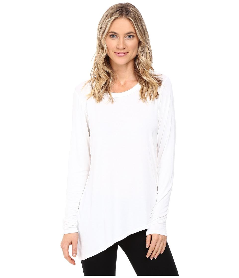 Trina Turk - Long Sleeve Drape Shirt (White) Women's Clothing