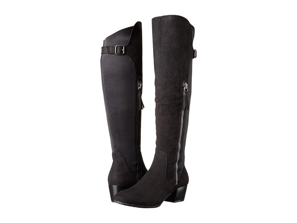 Kenneth Cole Unlisted - Always Plan (Black Microfiber) Women's Zip Boots