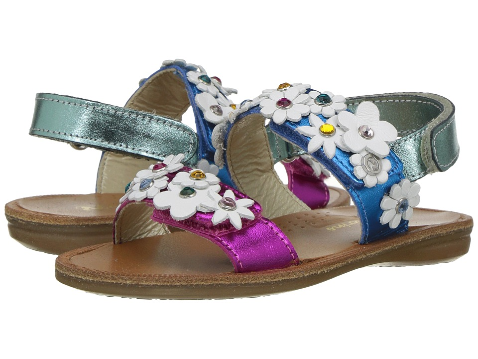 Naturino - 5030 SS17 (Toddler/Little Kid/Big Kid) (Blue Multi) Girl's Shoes