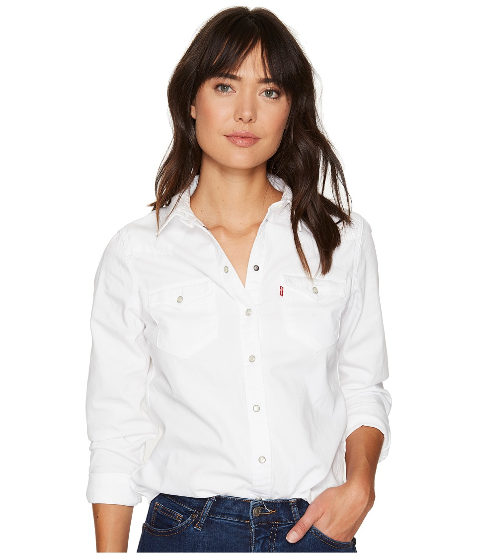 Levi's(r) Womens - Tailored Classic Western Shirt (White) Women's Clothing