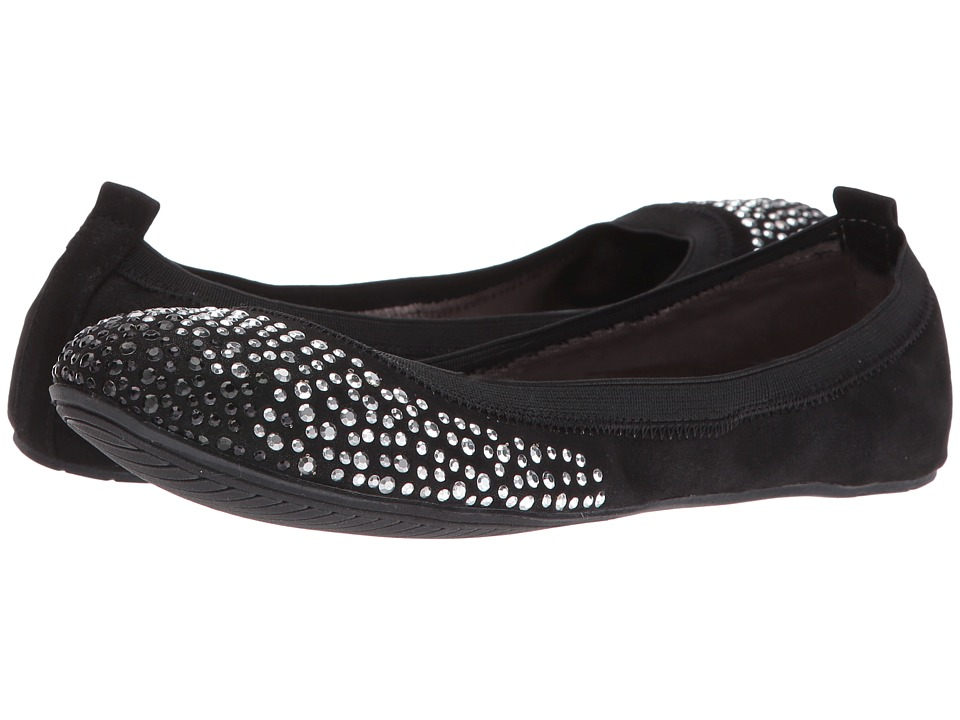 Kenneth Cole Unlisted - Whole Sparkle (Black Nova Suede) Women's Flat Shoes
