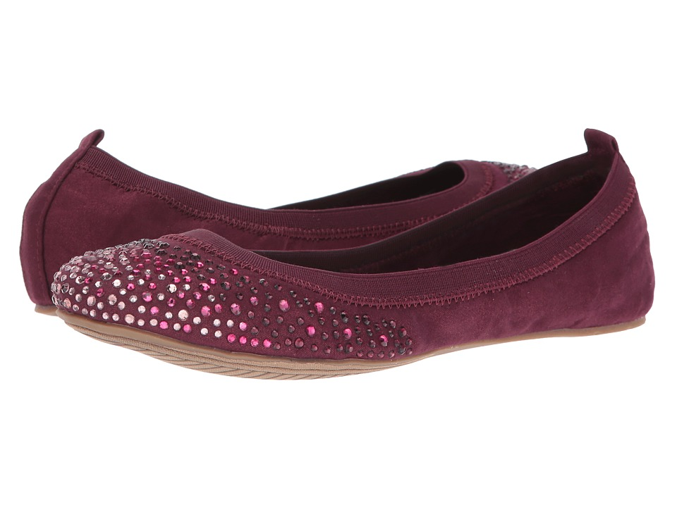 Kenneth Cole Unlisted - Whole Sparkle (Blackberry Nova Suede) Women's Flat Shoes