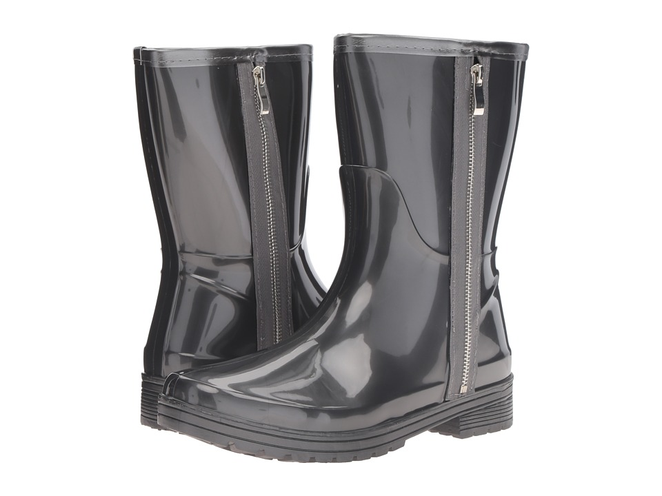 Kenneth Cole Unlisted - Rain Zip (Grey PVC) Women's Rain Boots