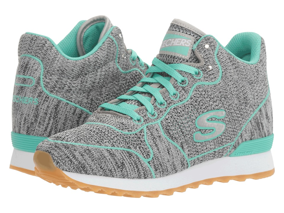BOBS from SKECHERS - OG 85 (Gray/Aqua) Women's Lace up casual Shoes