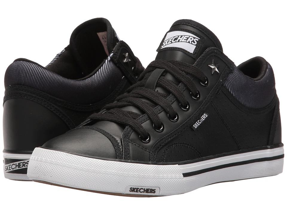 SKECHERS - Retros (Black) Women's Lace up casual Shoes