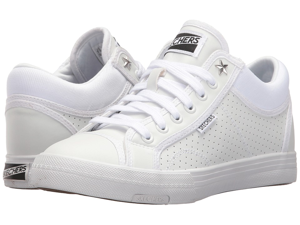 SKECHERS - Retros (White) Women's Lace up casual Shoes