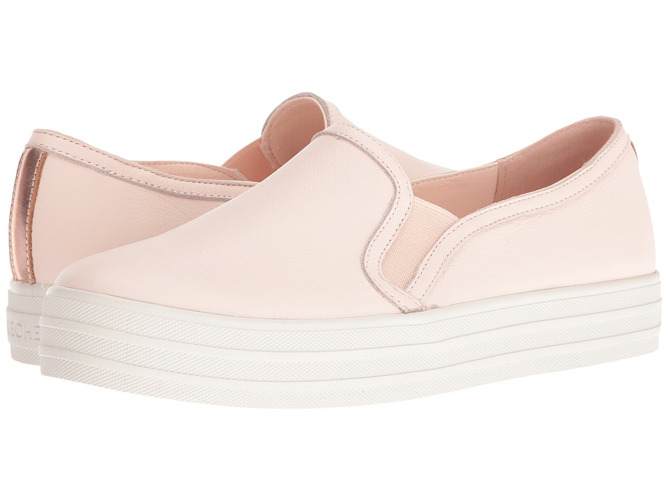 SKECHERS - Double Up - Sleek Street (Pink) Women's Slip on Shoes