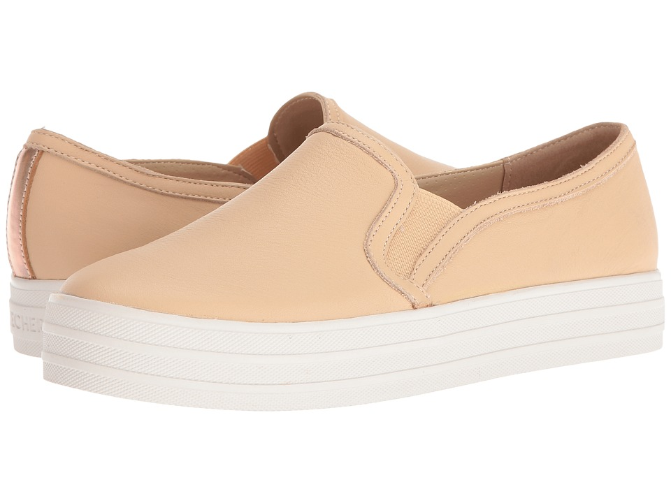 SKECHERS - Double Up - Sleek Street (Natural) Women's Slip on Shoes