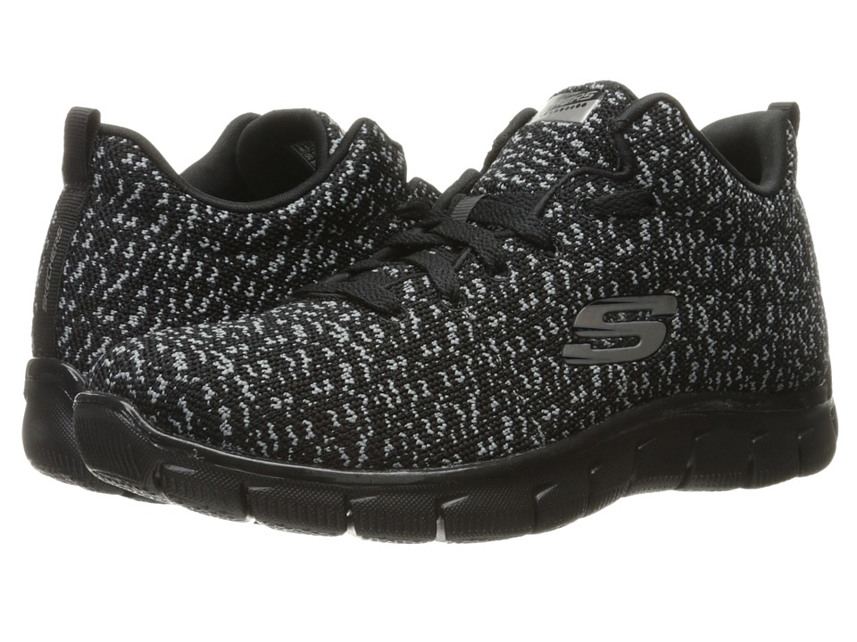SKECHERS - Empire - Connections (Black) Women's Lace up casual Shoes
