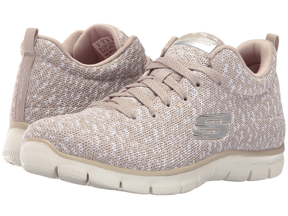 SKECHERS - Empire - Connections (Taupe) Women's Lace up casual Shoes