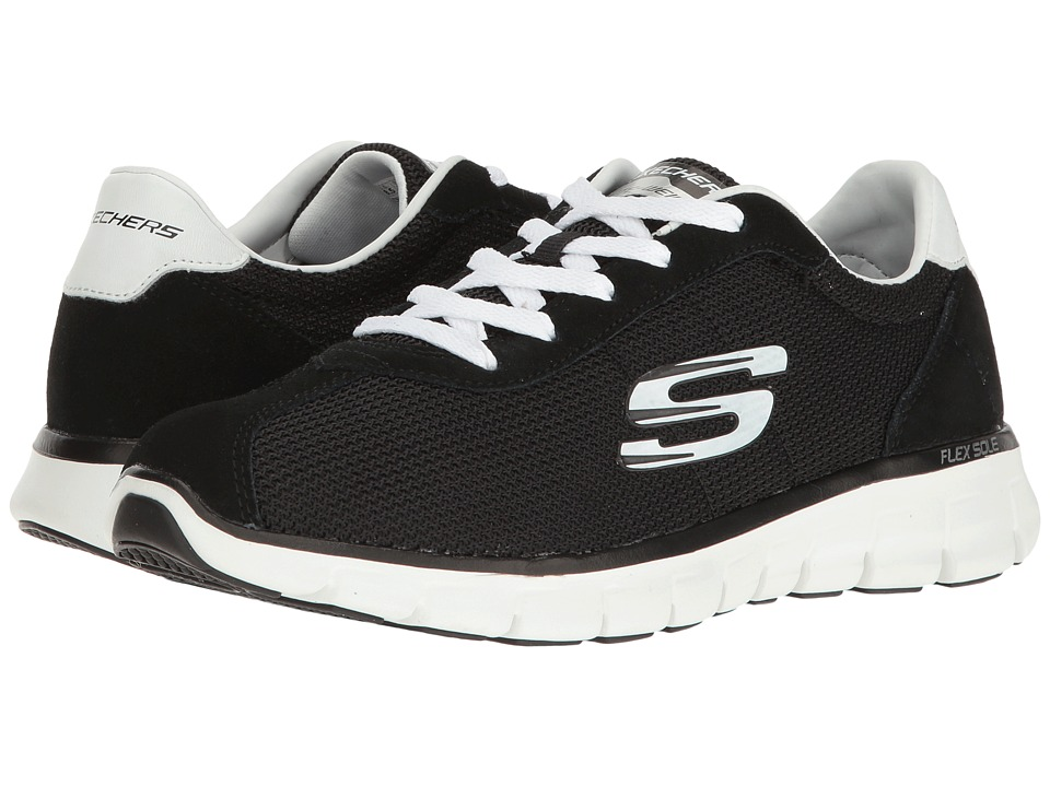 SKECHERS - Synergy (Black 1) Women's Lace up casual Shoes