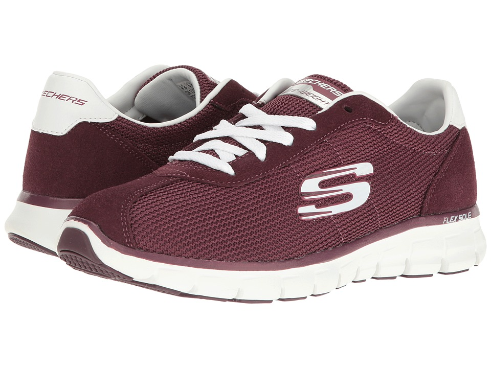 SKECHERS - Synergy (Wine) Women's Lace up casual Shoes