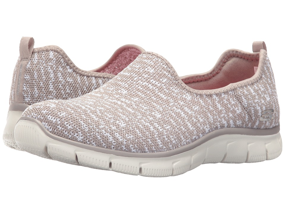 SKECHERS - Empire - Sweet Scene (Taupe) Women's Slip on Shoes