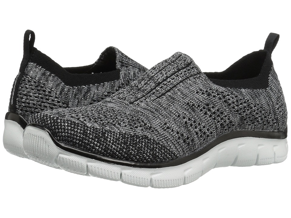 SKECHERS - Empire - Round Up (Black/Silver) Women's Slip on Shoes