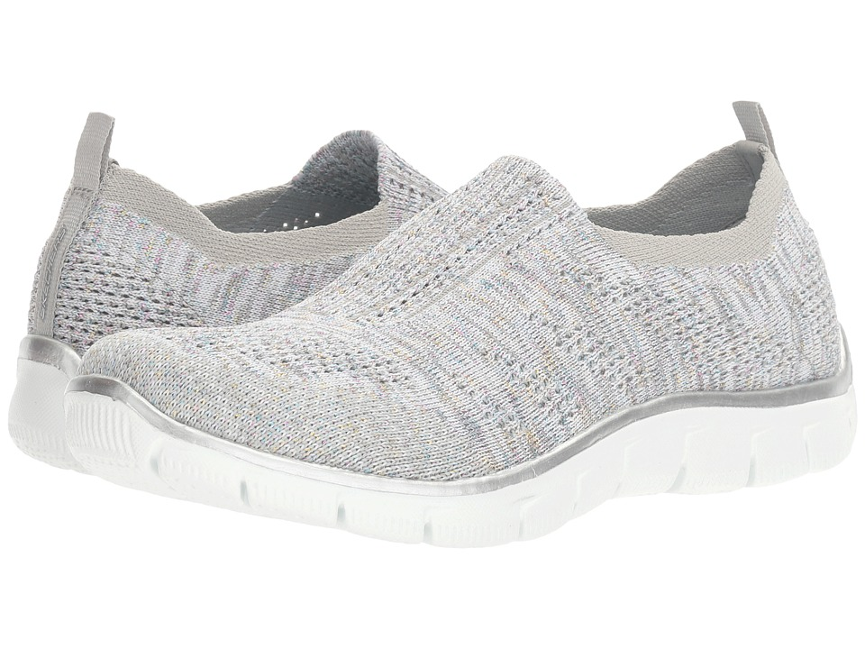 SKECHERS - Empire - Round Up (Gray/Mint) Women's Slip on Shoes