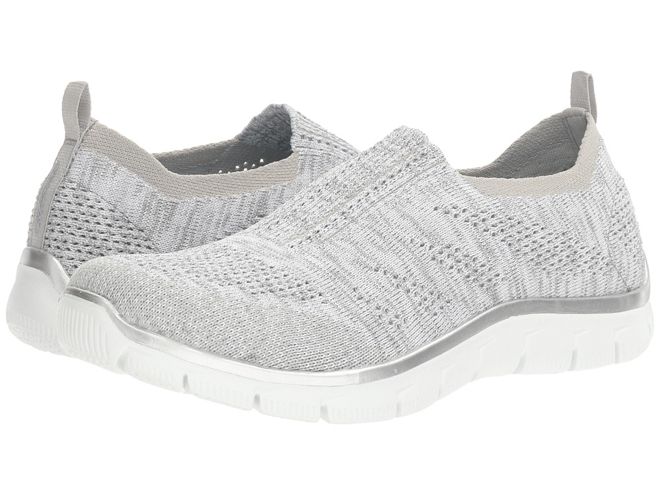 SKECHERS - Empire - Round Up (Gray/Silver) Women's Slip on Shoes