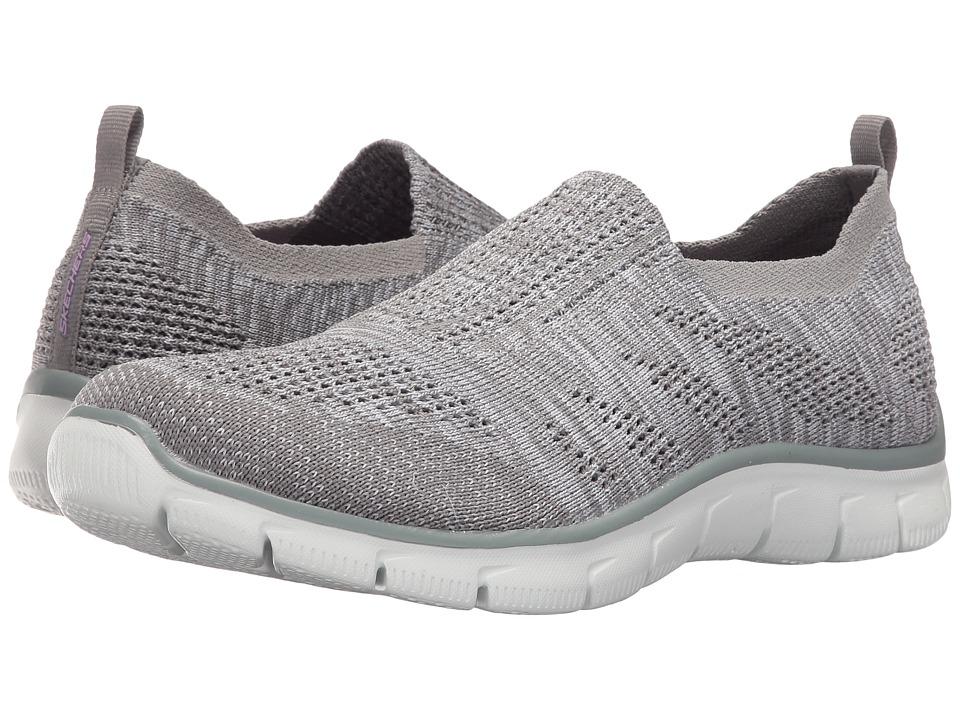 SKECHERS - Empire - Inside Look (Gray/White) Women's Slip on Shoes