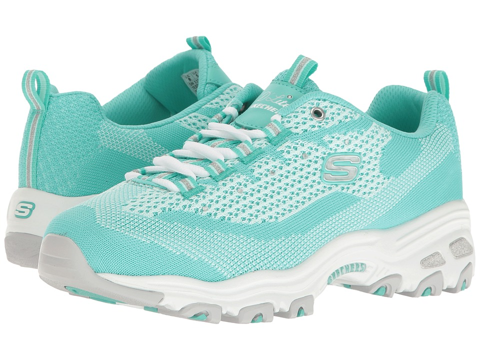 SKECHERS - D'Lites - Reinvention (Mint) Women's Lace up casual Shoes