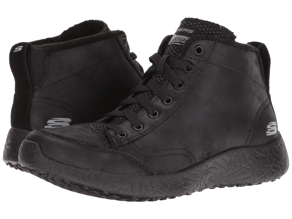 SKECHERS - Burst (Black) Women's Lace up casual Shoes