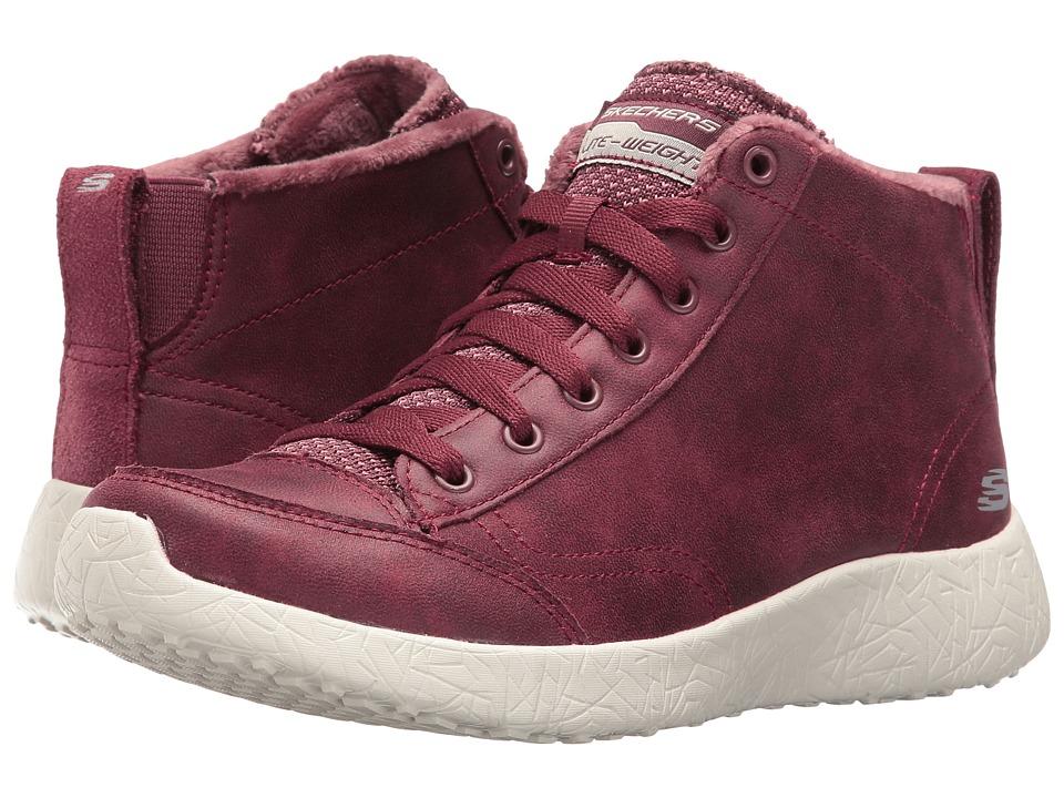 SKECHERS - Burst (Burgundy) Women's Lace up casual Shoes