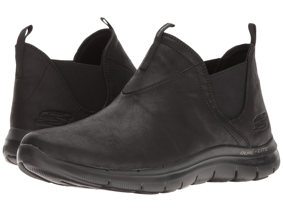 SKECHERS - Flex Appeal 2.0 (Black 1) Women's Slip on Shoes