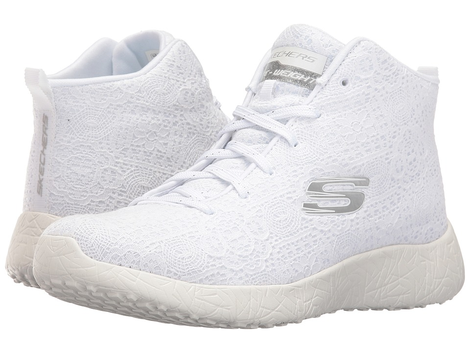 SKECHERS - Burst (White) Women's Lace up casual Shoes