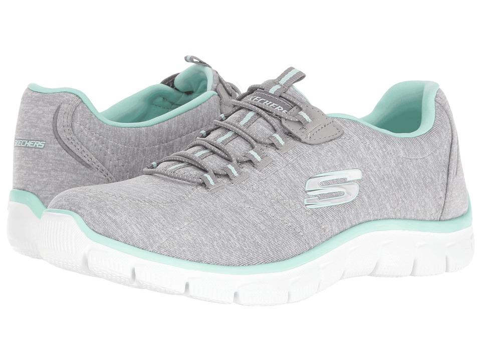 SKECHERS - Empire - Invitation Only (Gray/Mint) Women's Lace up casual Shoes