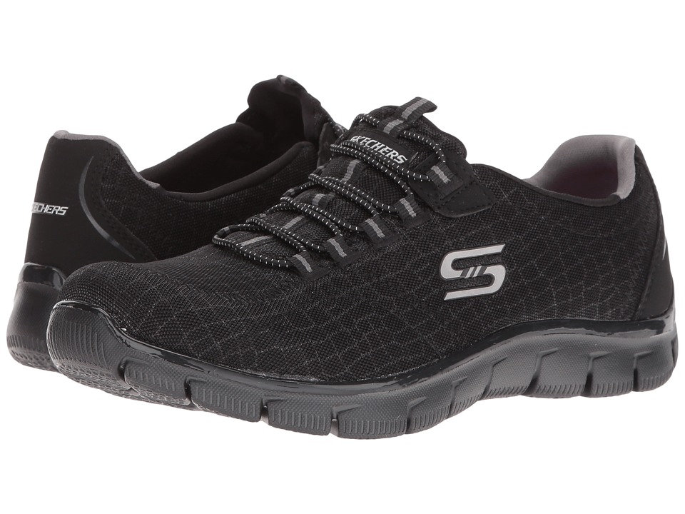 SKECHERS - Empire - In The Lead (Black) Women's Lace up casual Shoes