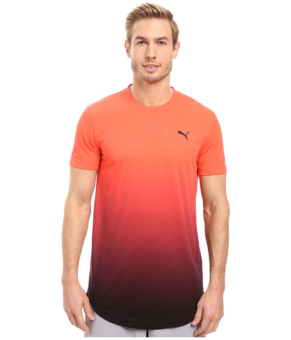 PUMA Fluo Fade Graphic Tee (Red Blast/Puma Black) Men