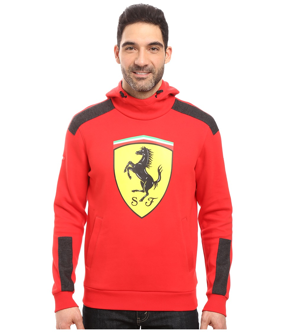 PUMA - SF Big Shield Hoodie (Rosso Corsa) Men's Sweatshirt