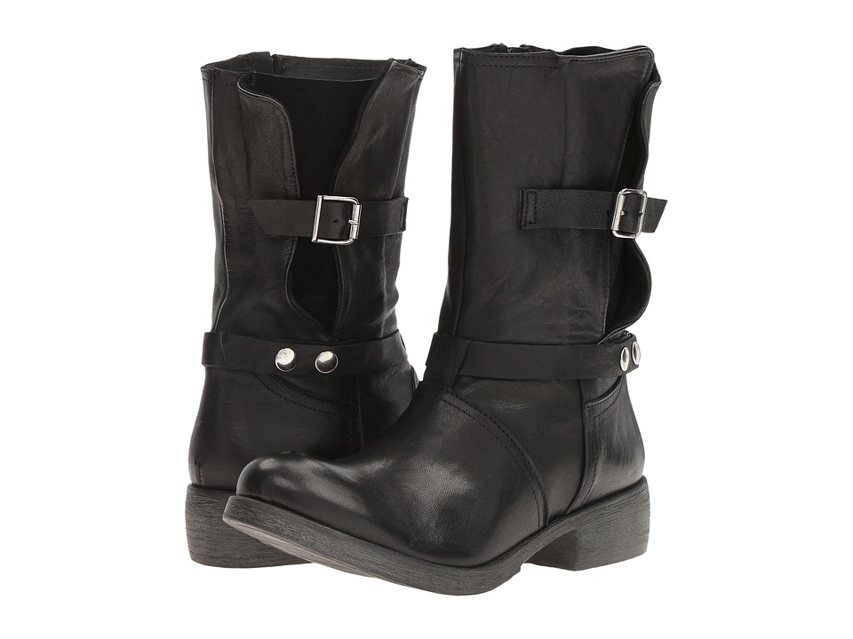 Massimo Matteo - Biker Boot with Buckle (Black) Women's Boots