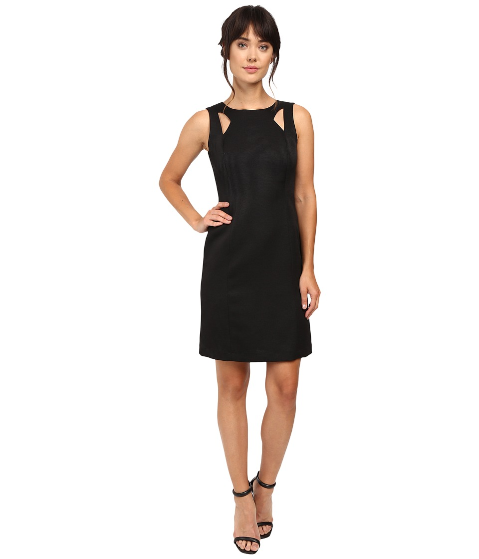 Tahari by ASL - Shoulder Cut Out Sheath in Faille (Black) Women's Dress