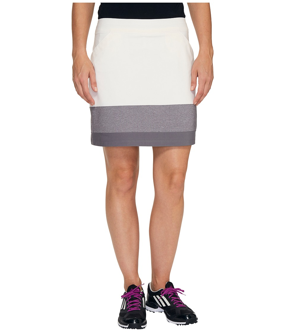 adidas Golf - Ultimate Adistar Color Block Skort (White) Women's Skort