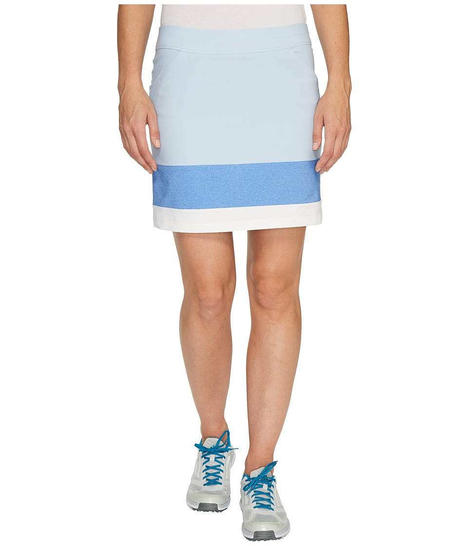 adidas Golf - Ultimate Adistar Color Block Skort (Easy Blue) Women's Skort