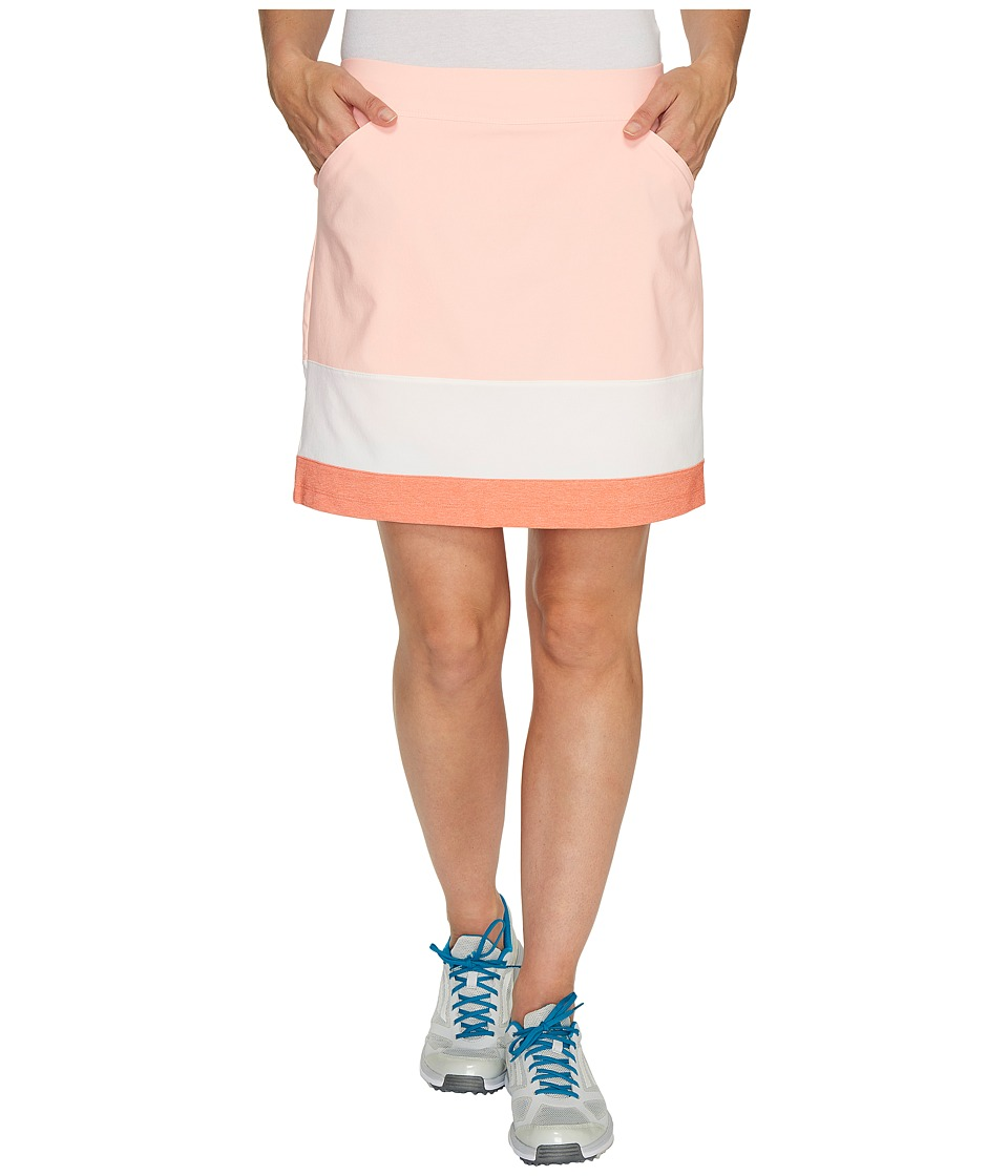 adidas Golf - Ultimate Adistar Color Block Skort (Haze Coral) Women's Skort