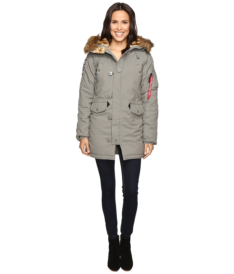 Alpha Industries - Altitude Parka (Alaska Green) Women's Coat