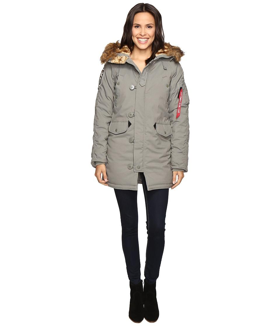 Alpha Industries - Altitude Parka (Alaska Green) Women's Coat
