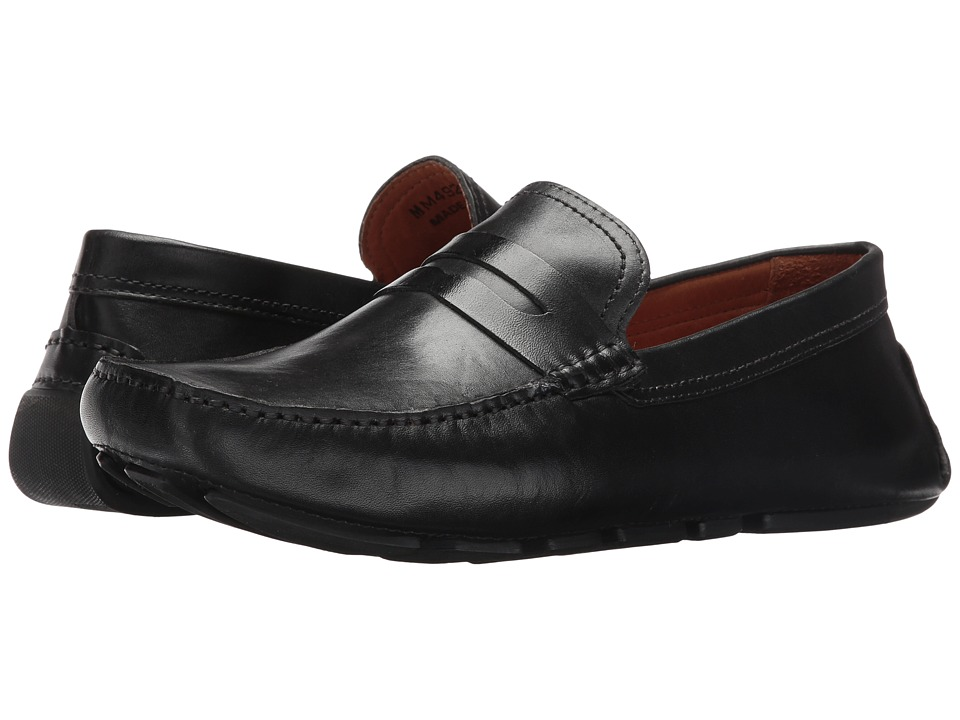 Massimo Matteo - Burnished Penny Driver (Black) Men's Slip-on Dress Shoes