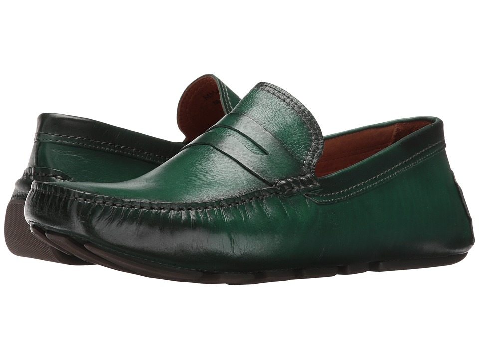 Massimo Matteo - Burnished Penny Driver (Musgo) Men's Slip-on Dress Shoes