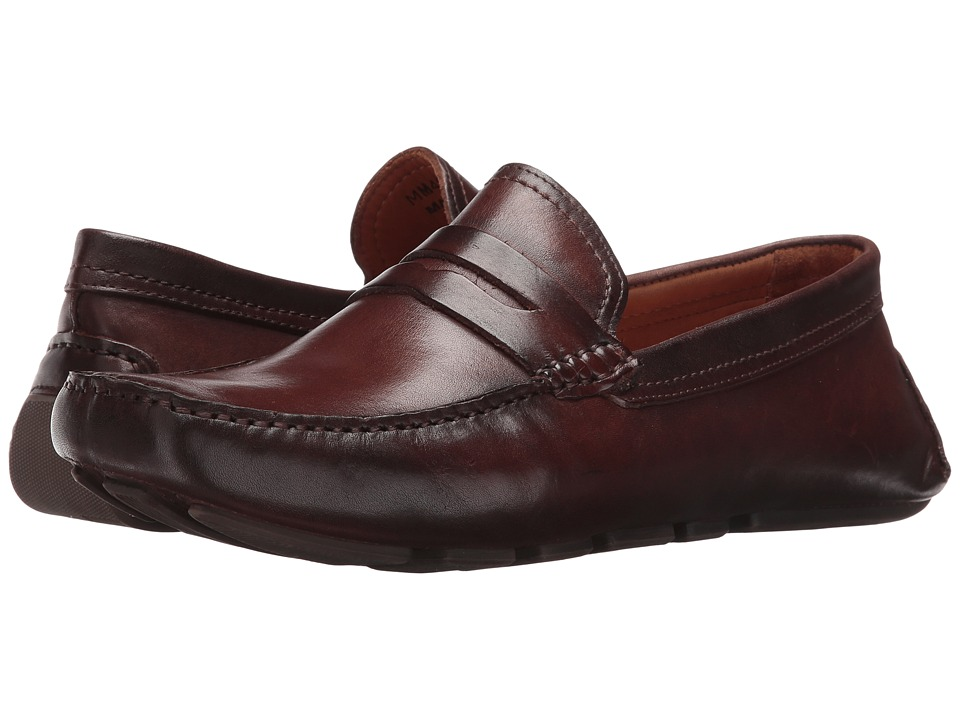 Massimo Matteo - Burnished Penny Driver (Castanho) Men's Slip-on Dress Shoes